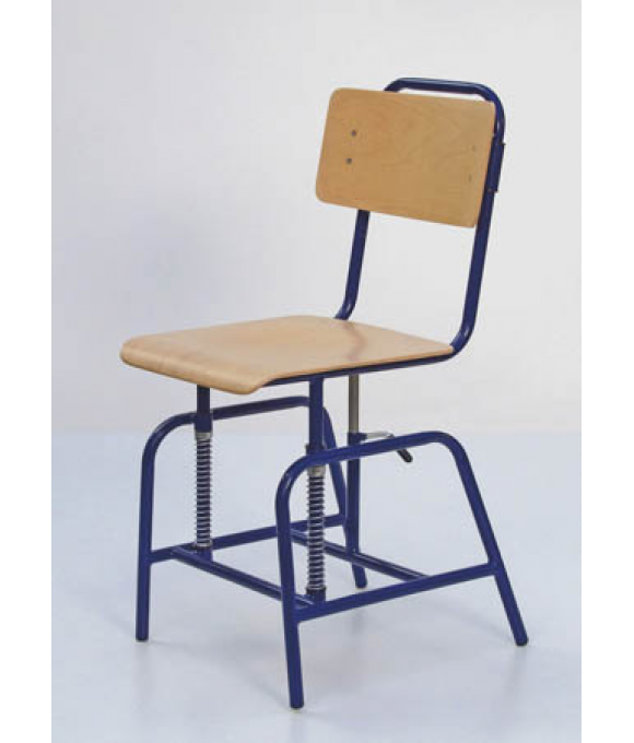 Vertically adjustable school chair EVA