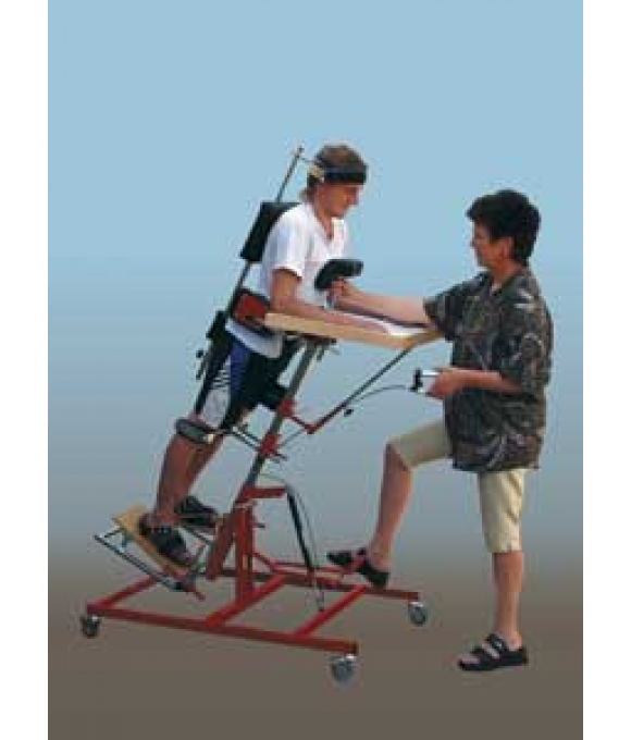 POSITIONING DEVICE - ADJUSTABLE AND MOBILE VERTICAL POSITIONING STAND, type MIREK for Children and Adults