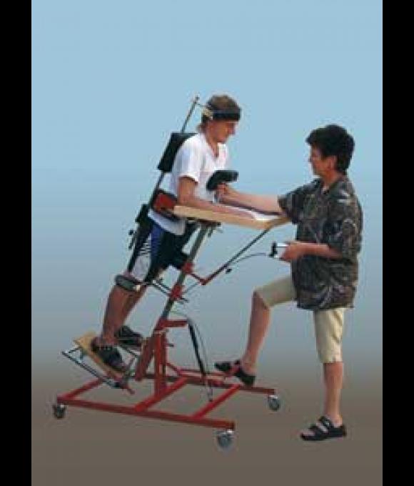 Stojan vertikalizační, stavitelný, mobilní typ MIREK pro děti a dospělé